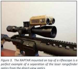 RAPTAR mounted on riflescope